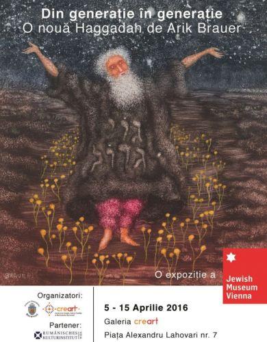 Expoziție a Muzeului Evreiesc din Viena la Bucureşti afis expozitie arik brauer