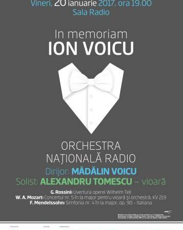 #Concert | In memoriam Ion Voicu