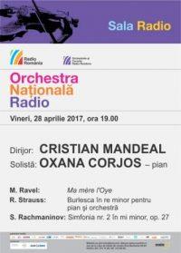 #Concert Orchestra Națională Radio 28 aprilie 2017 cu Cristian Mandeal