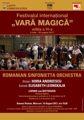 Romanian Sinfonietta Orchestra revine la Ateneul Român