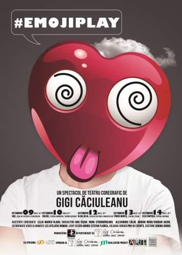 """Turneul național cu spectacolul """"#EmojiPlay"""", de Gigi Căciuleanu"""