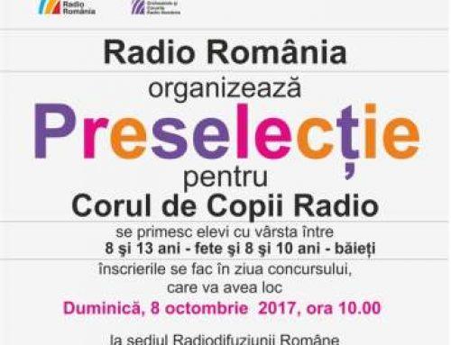 Concurs de preselecție pentru Corul de Copii Radio