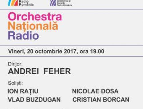 Andrei Feher, la pupitrul Orchestrei Naționale Radio