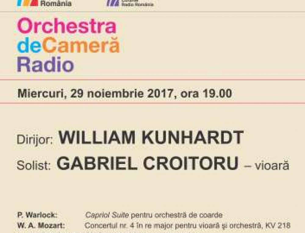 William Kunhardt, la pupitrul Orchestrei de Cameră Radio