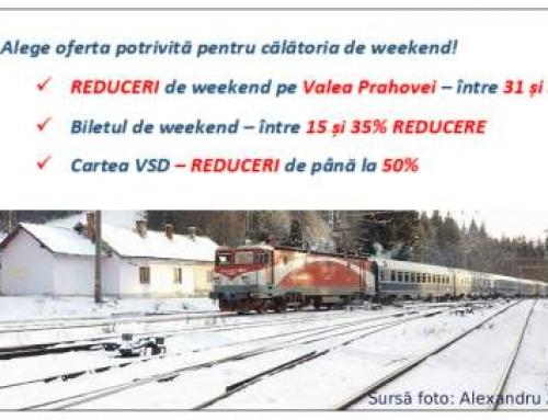 CFR anunta reduceri de weekend la calatoriile cu trenul