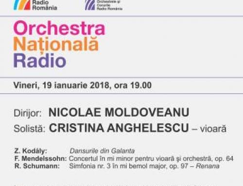 Nicolae Moldoveanu, la pupitrul Orchestrei Naționale Radio