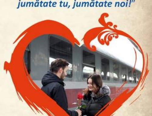 CFR Călători oferă 50% reducere de Valentine's Day şi Dragobete