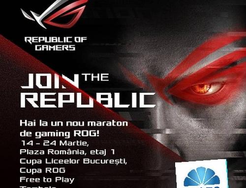 """Întâlniri cu vedetele, meciuri amicale și premii, la un nou maraton ASUS """"Join The Republic"""" în Plaza România"""