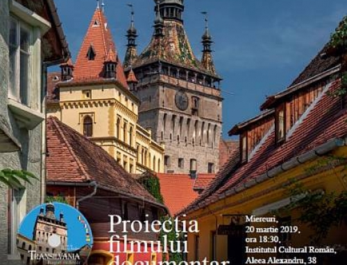 Premiera filmului documentar TRANSILVANIA – BURGURI MEDIEVALE, la Institutul Cultural Român