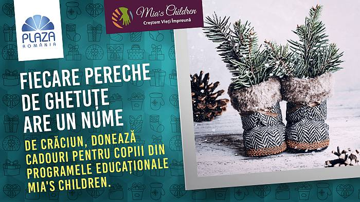 De sarbatori, daruieste un cadou copiilor sustinuti de Asociatia Mia's Children, la Plaza Romania