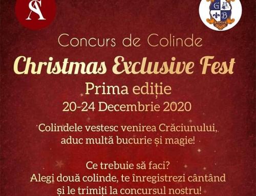 """Concurs național de colinde """"Christmas Exclusive Fest 2020"""""""